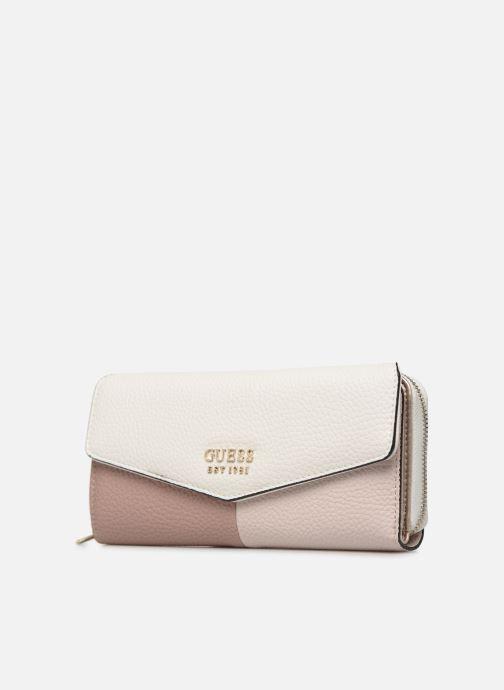 Portemonnaies & Clutches Guess COLETTE LARGE CLUTH ORGANIZER weiß schuhe getragen