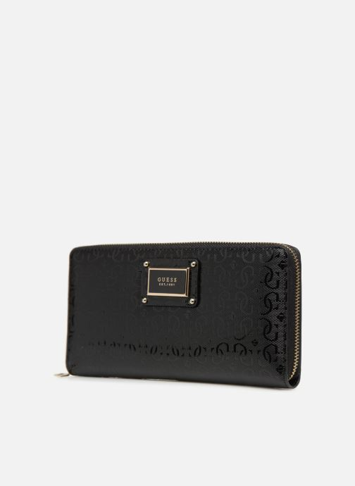 Wallets & cases Guess SHANNON CHEQUE ORGANIZER Black model view