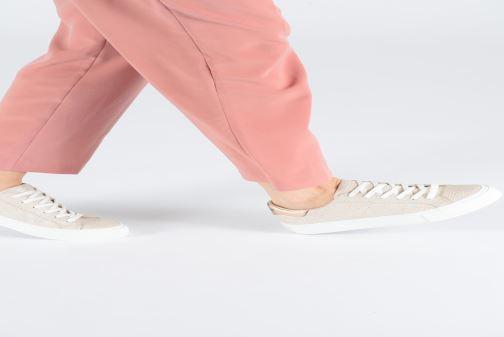 Sneaker No Name Arcade Sneaker Panama gold/bronze ansicht von unten / tasche getragen