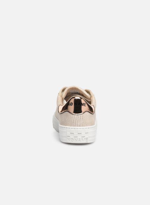 Baskets No Name Arcade Sneaker Panama Or et bronze vue droite