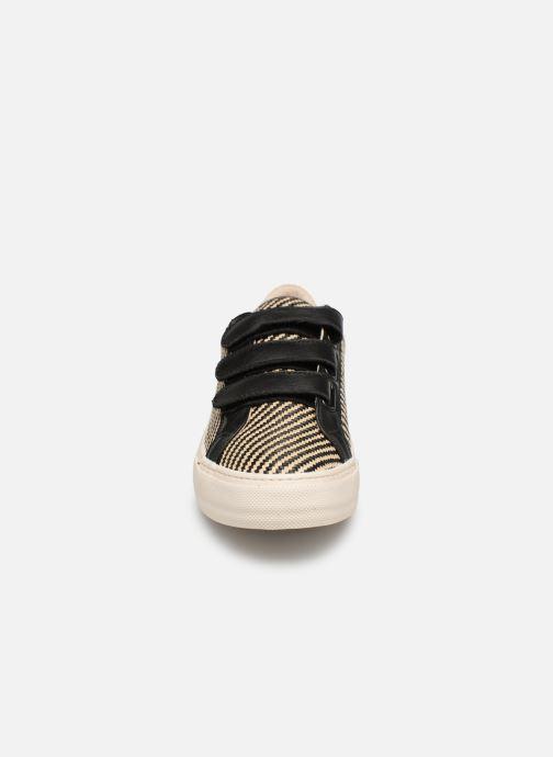 Baskets No Name Arcade Straps Raphia/Nappa Noir vue portées chaussures