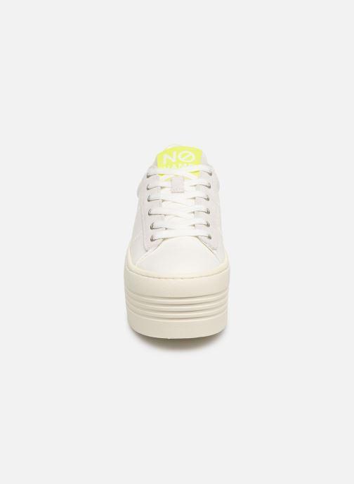Baskets No Name Twin Sneaker Big/Canvas/Plexi Blanc vue portées chaussures