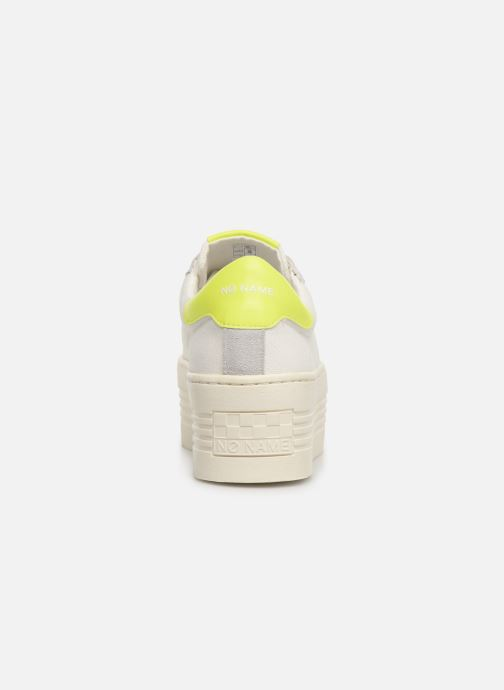 Baskets No Name Twin Sneaker Big/Canvas/Plexi Blanc vue droite
