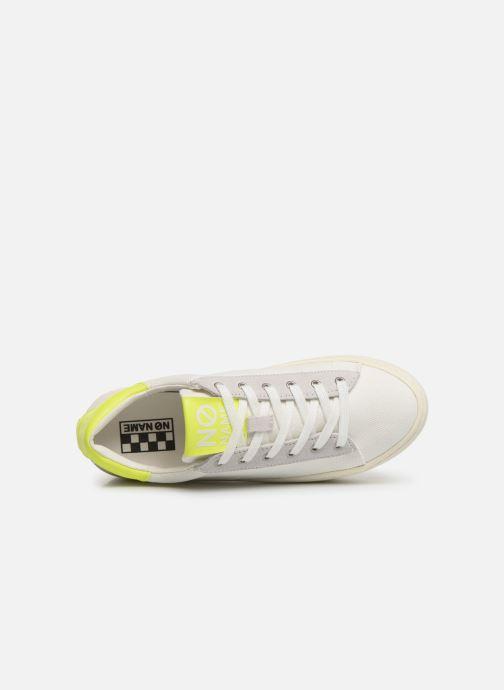 Baskets No Name Twin Sneaker Big/Canvas/Plexi Blanc vue gauche