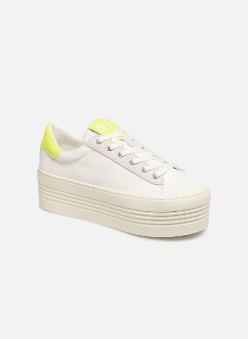 Baskets No Name Twin Sneaker Big/Canvas/Plexi Blanc vue détail/paire