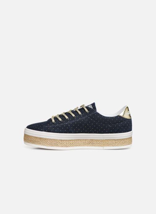 Sneaker No Name Malibu Sneaker Trip blau ansicht von vorne
