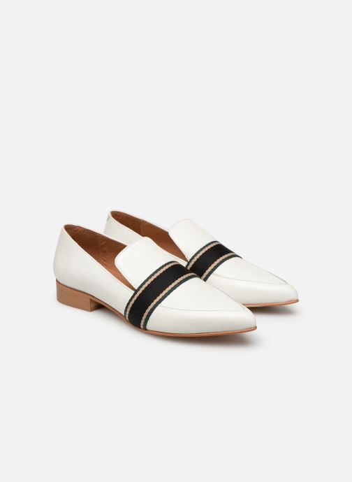 Loafers Made by SARENZA Sport Party Mocassins #2 White back view