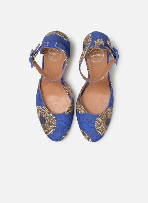 Zapatos de tacón Made by SARENZA UrbAfrican Escarpins #4 Azul vista del modelo