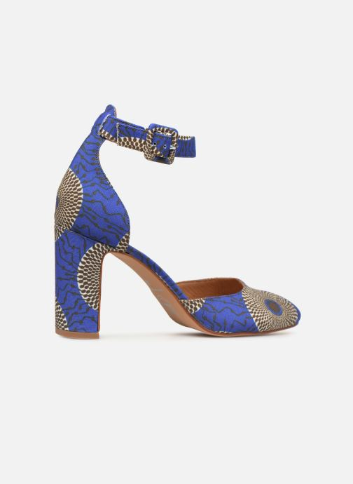 High heels Made by SARENZA UrbAfrican Escarpins #4 Blue front view