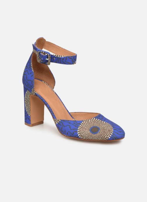 High heels Made by SARENZA UrbAfrican Escarpins #4 Blue view from the right