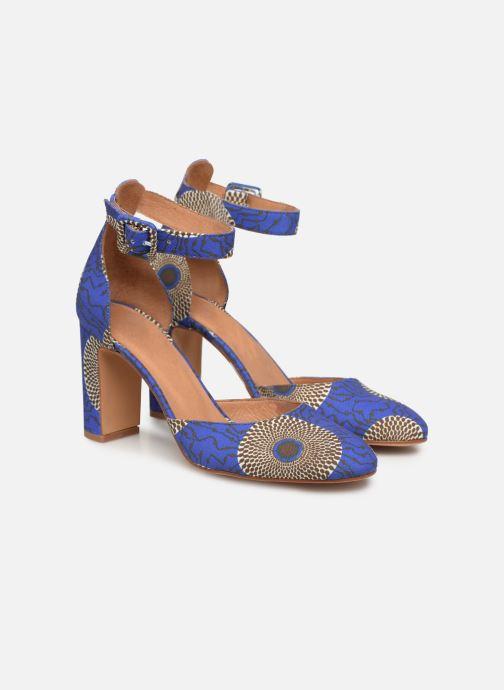 Zapatos de tacón Made by SARENZA UrbAfrican Escarpins #4 Azul vistra trasera