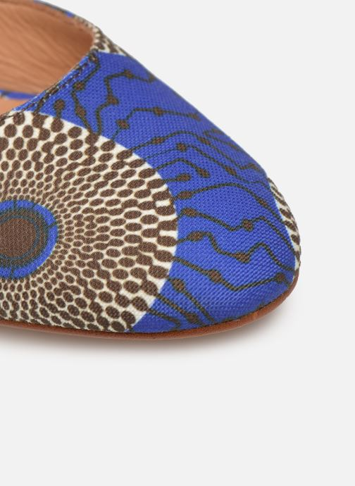 High heels Made by SARENZA UrbAfrican Escarpins #4 Blue view from the left
