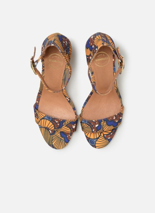 Sandales et nu-pieds Made by SARENZA UrbAfrican Sandales à Talons #10 Jaune vue portées chaussures