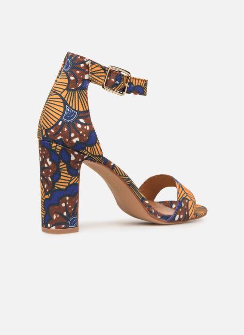 Sandales et nu-pieds Made by SARENZA UrbAfrican Sandales à Talons #10 Jaune vue face