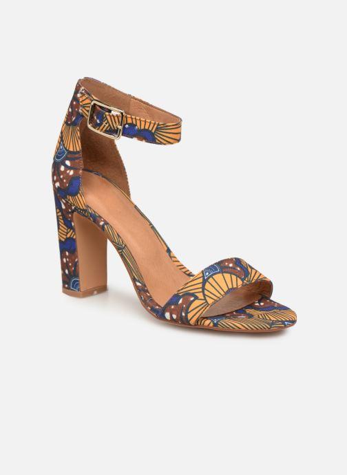 Sandales et nu-pieds Made by SARENZA UrbAfrican Sandales à Talons #10 Jaune vue droite