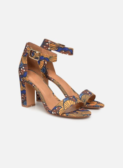 Sandales et nu-pieds Made by SARENZA UrbAfrican Sandales à Talons #10 Jaune vue derrière