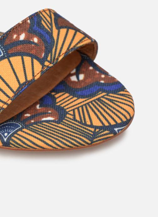 Sandales et nu-pieds Made by SARENZA UrbAfrican Sandales à Talons #10 Jaune vue gauche