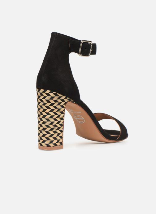 Sandalias Made by SARENZA Africa Vibes Sandales à Talons #2 Negro vista de frente