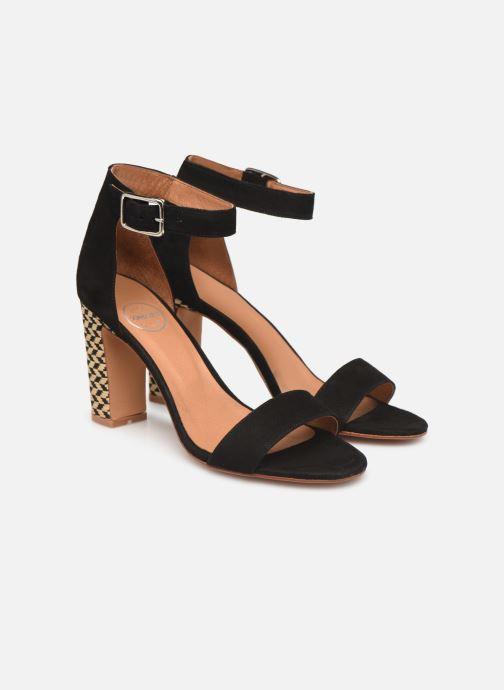 Sandales et nu-pieds Made by SARENZA Africa Vibes Sandales à Talons #2 Noir vue derrière