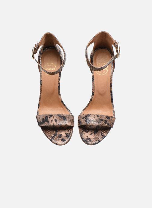 Sandales et nu-pieds Made by SARENZA Africa Vibes Sandales à Talons #2 Marron vue portées chaussures