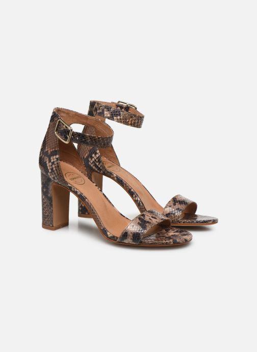 Sandales et nu-pieds Made by SARENZA Africa Vibes Sandales à Talons #2 Marron vue derrière