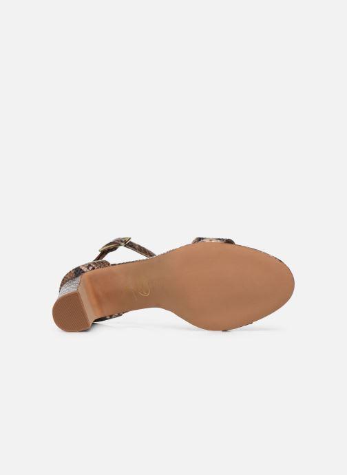 Sandales et nu-pieds Made by SARENZA Africa Vibes Sandales à Talons #2 Marron vue haut