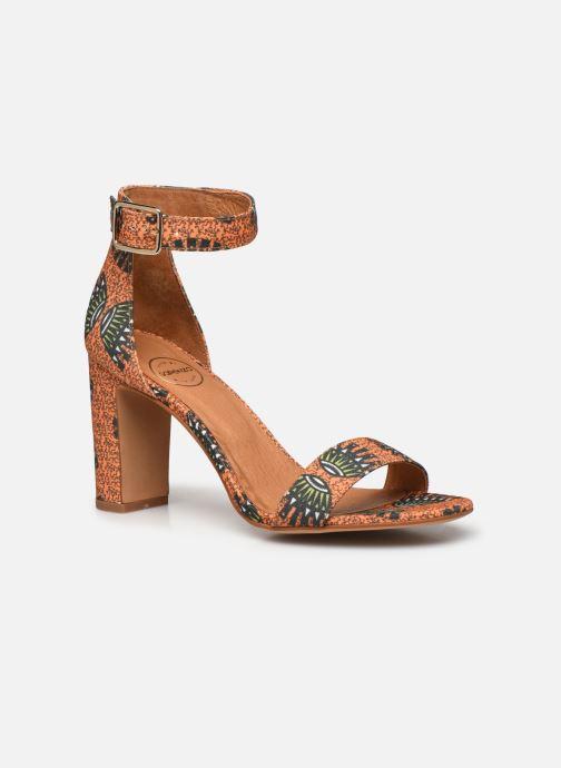 Sandales et nu-pieds Made by SARENZA Africa Vibes Sandales à Talons #2 Orange vue droite