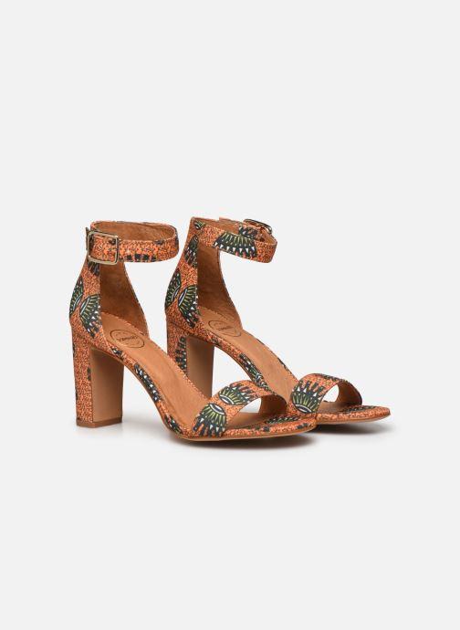 Sandales et nu-pieds Made by SARENZA Africa Vibes Sandales à Talons #2 Orange vue derrière