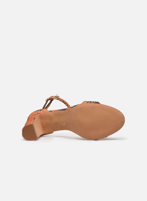 Sandales et nu-pieds Made by SARENZA Africa Vibes Sandales à Talons #2 Orange vue haut