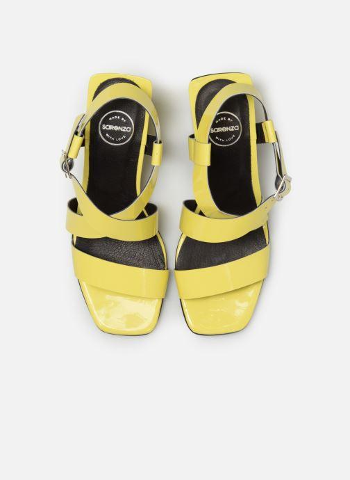Sandales et nu-pieds Made by SARENZA Pastel Affair Sandales à Talons #1 Jaune vue portées chaussures