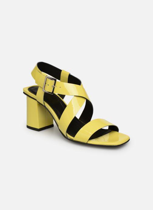 Sandales et nu-pieds Made by SARENZA Pastel Affair Sandales à Talons #1 Jaune vue droite