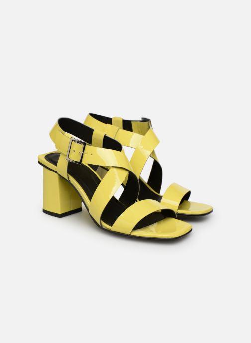 Sandales et nu-pieds Made by SARENZA Pastel Affair Sandales à Talons #1 Jaune vue derrière