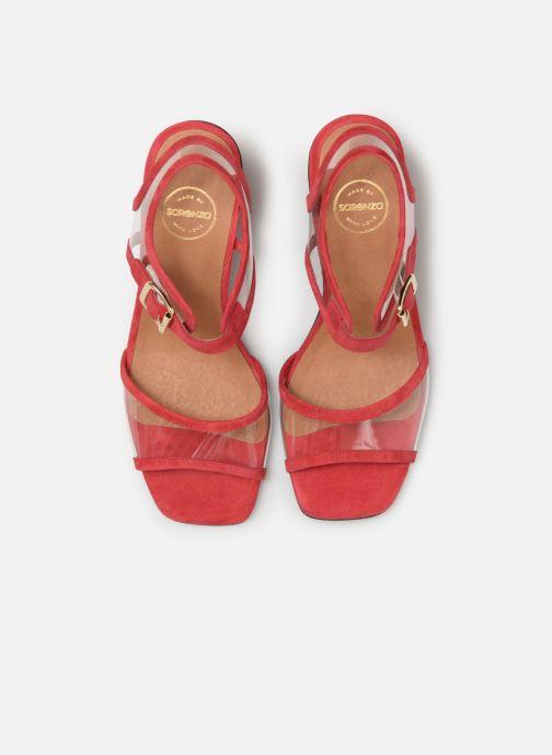 Sandales et nu-pieds Made by SARENZA Sport Party Sandales à Talons #5 Rouge vue portées chaussures
