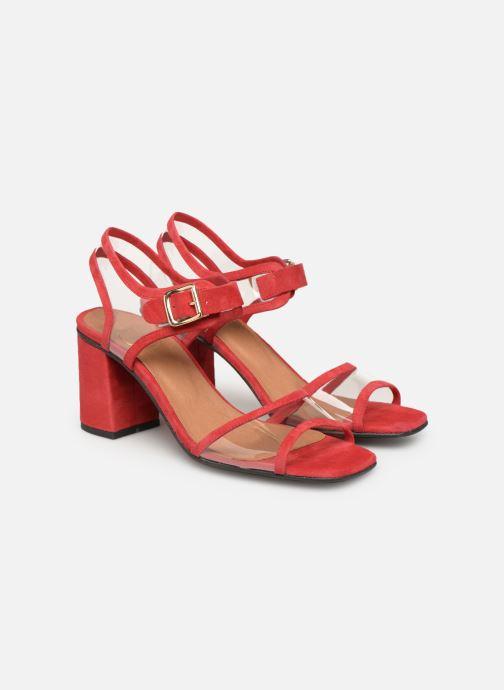 Sandales et nu-pieds Made by SARENZA Sport Party Sandales à Talons #5 Rouge vue derrière