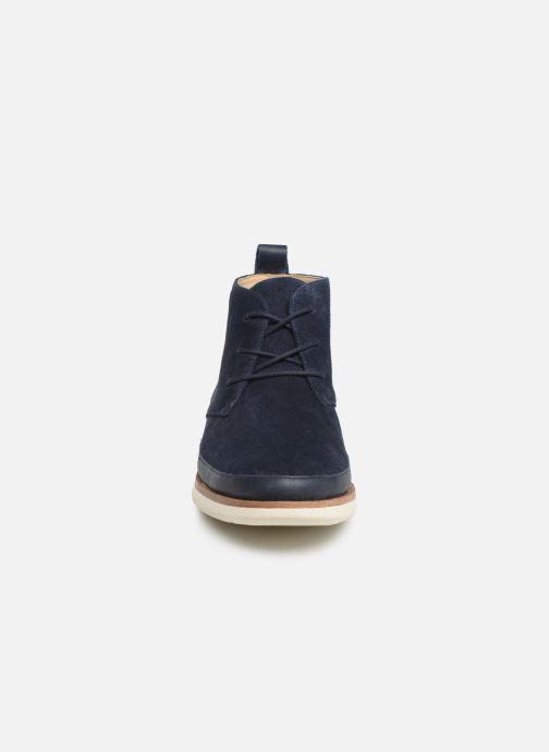 Bottines et boots Schmoove Echo Desert Bleu vue portées chaussures