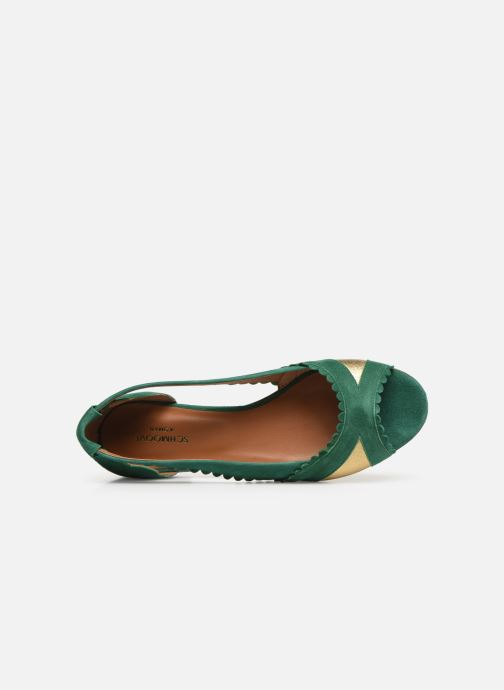 Ballet pumps Schmoove Woman Retro Pump Green view from the left