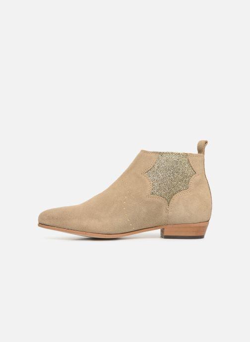 Bottines et boots Schmoove Woman Peckham Chelsea Beige vue face