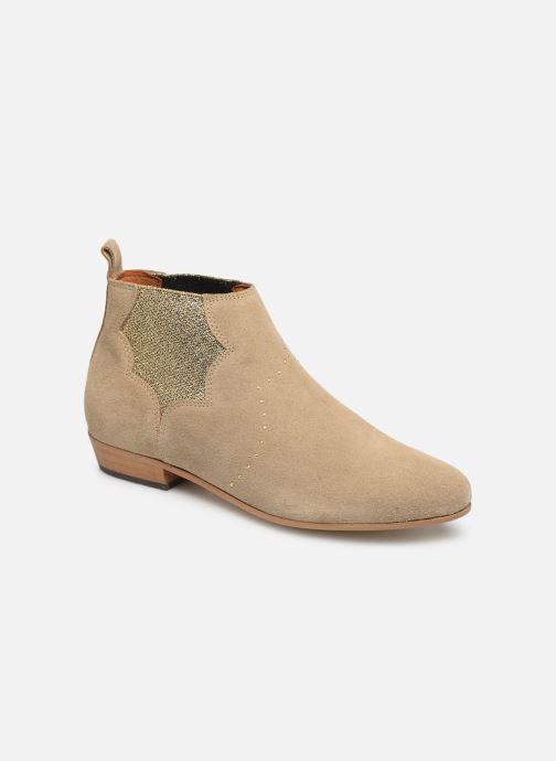 Ankle boots Schmoove Woman Peckham Chelsea Beige detailed view/ Pair view