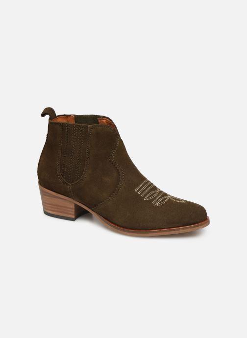 Bottines et boots Schmoove Woman Polly Boots Vert vue détail/paire