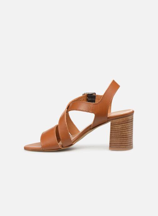 Sandales et nu-pieds Georgia Rose Luksa Marron vue face