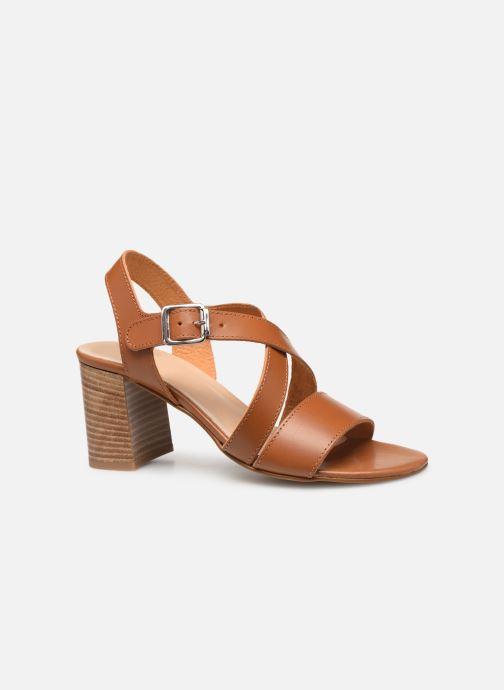 Sandales et nu-pieds Georgia Rose Luksa Marron vue derrière