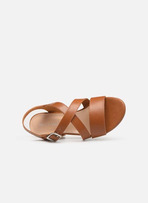Sandales et nu-pieds Georgia Rose Luksa Marron vue gauche