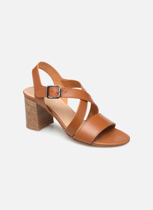 Sandales et nu-pieds Georgia Rose Luksa Marron vue détail/paire