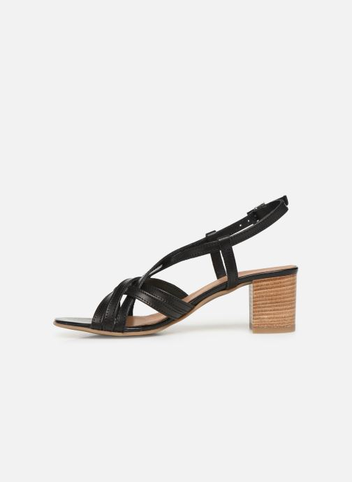 Sandales et nu-pieds Georgia Rose Lucija Noir vue face