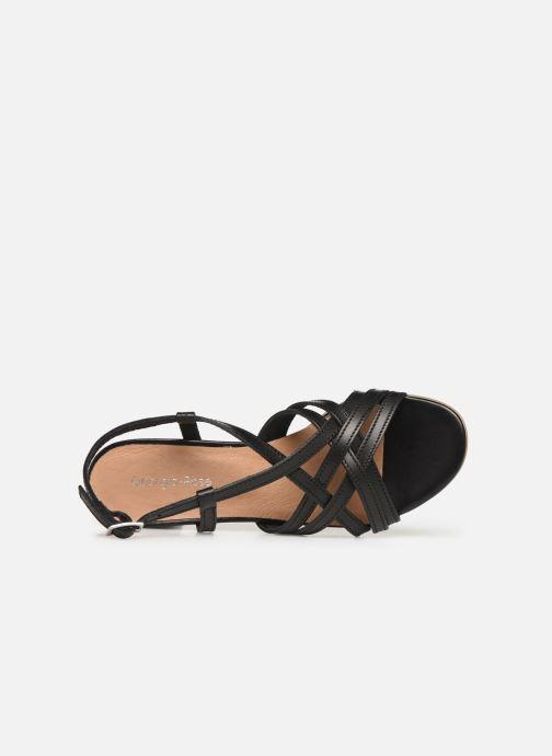 Sandales et nu-pieds Georgia Rose Lucija Noir vue gauche