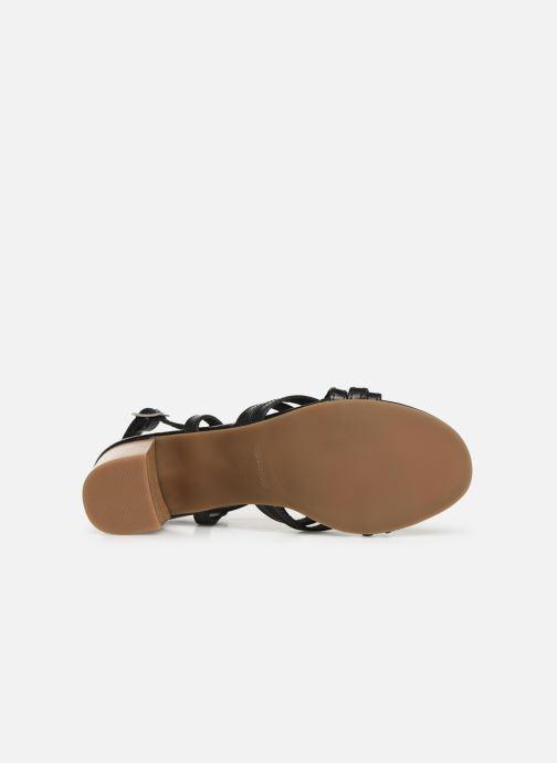 Sandales et nu-pieds Georgia Rose Lucija Noir vue haut