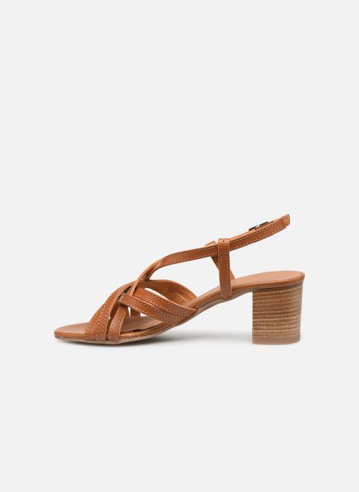 Sandales et nu-pieds Georgia Rose Lucija Marron vue face