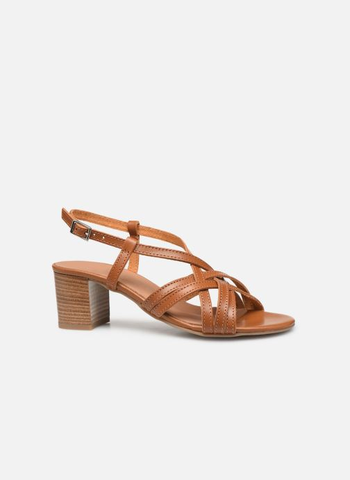 Sandales et nu-pieds Georgia Rose Lucija Marron vue derrière