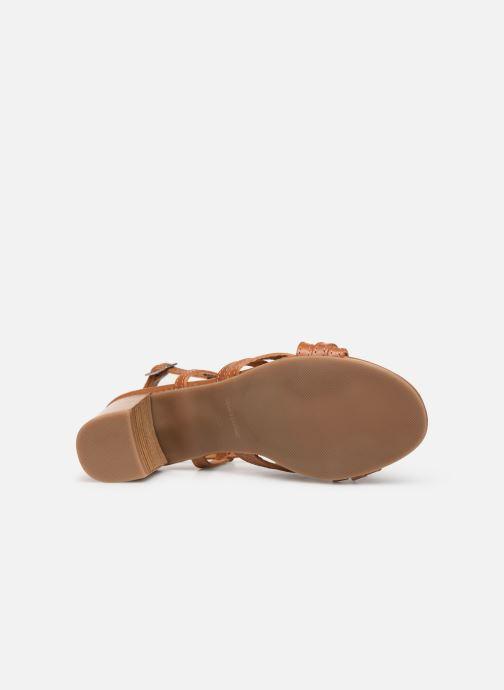 Sandales et nu-pieds Georgia Rose Lucija Marron vue haut