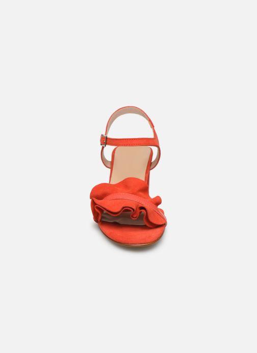 Sandales et nu-pieds Georgia Rose Luwagua Rouge vue portées chaussures